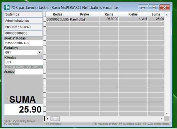 Rivile GAMA programos langas 12
