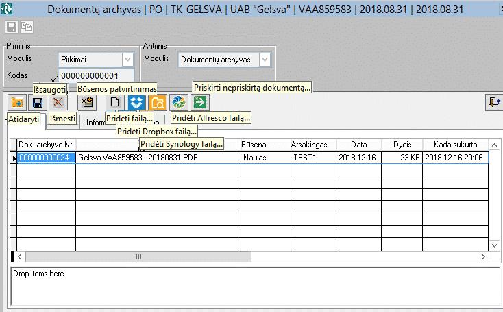 Rivile GAMA Dokumentų-archyvas-peržiūra-su-funkcijomis