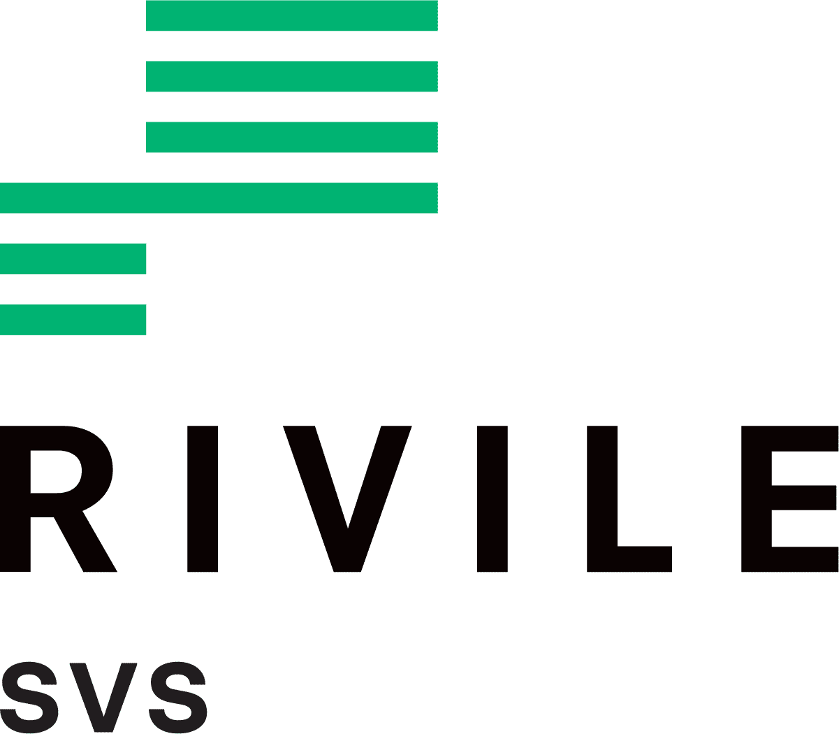 Rivile SVS logotipas zalia juoda